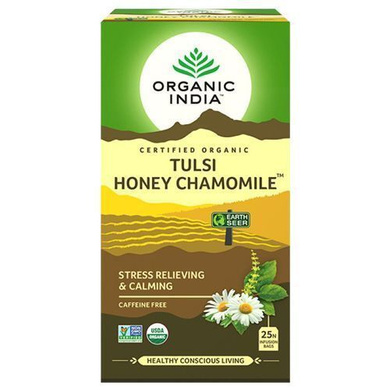 Organic India Chamomile Tea - Tulsi Honey 43.5 gm (25 Bags x 1.7 gm each)-SKU-TEA-002