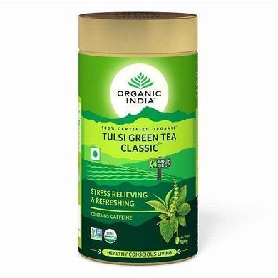 Organic India Tulsi  Green Tea - Classic 100 gm-SKU-TEA-014