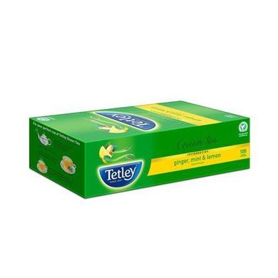 Tetley Green Tea - Ginger, Mint & Lemon 295 gm (100 Bags x 2.9 gm each)-SKU-TEA-023