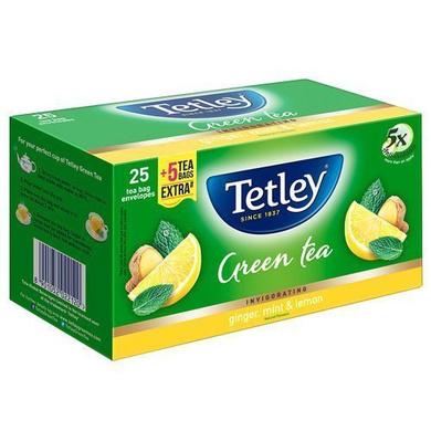 Tetley Green Tea - Ginger Mint Lemon 25 Bags x 2 gm Each 50 gm-SKU-TEA-027