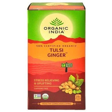 Organic India Infusion Bags - The Original Tulsi Ginger 25 pcs Carton-SKU-TEA-030
