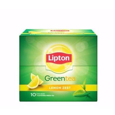 Lipton Green Tea - Lemon Zest 13 gm (10 Bags x 1.3 gm each)-SKU-TEA-043