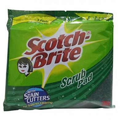 Scotch-Brite Scrub Pad Pack Of 3-SKU-DISWAS-441