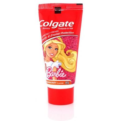 Colgate Anticavity Barbie Strawberry Flavor Kids Toothpaste-SKU-ORAL-782