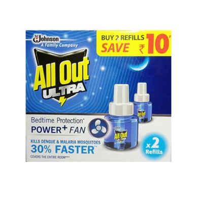 All Out Ultra Bedtime Protection Power + Fan 2 Reffils-SKU-REPELNT-354