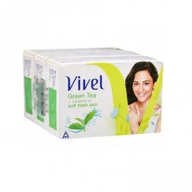 Vivel Green Tea+Vitamin E Soft Fresh Skin-SKU-SOAP-183