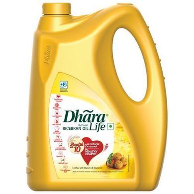 Dhara Refined Oil - Rice Bran-SKU-Edible-Oil-027