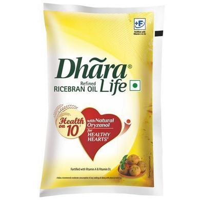 Dhara Refined Oil - Rice Bran (Natural Oryzanol & Vitamin E)-SKU-Edible-Oil-028