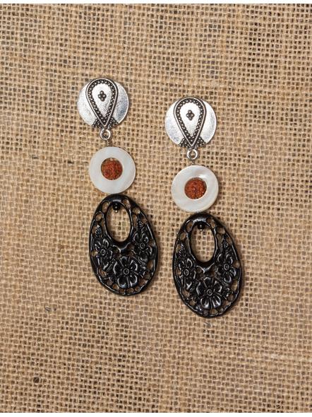 Handmade MoP and Black Coral Dust Dangler-LAA-ER-003