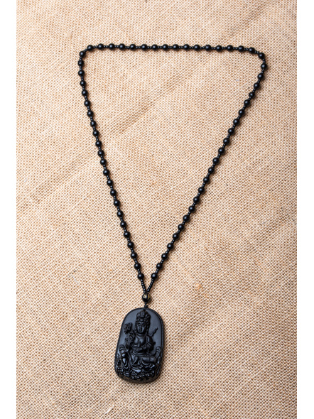 Handcrafted Black Stone Carving Necklace-LAA-NL-028