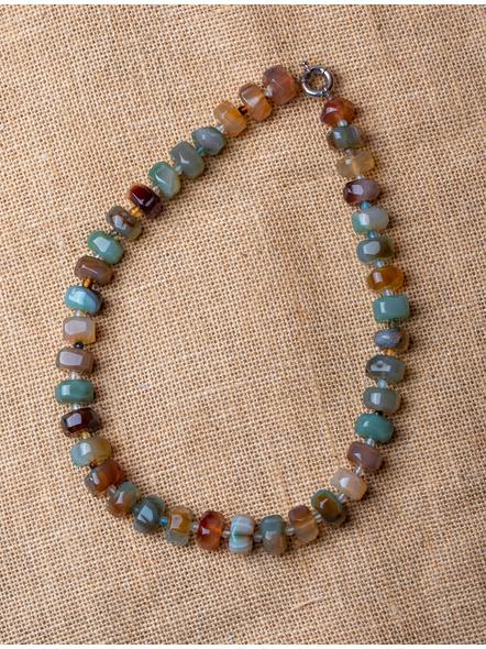 Semi Precious Stone Necklace in Multi-colour-LAA-NL-026