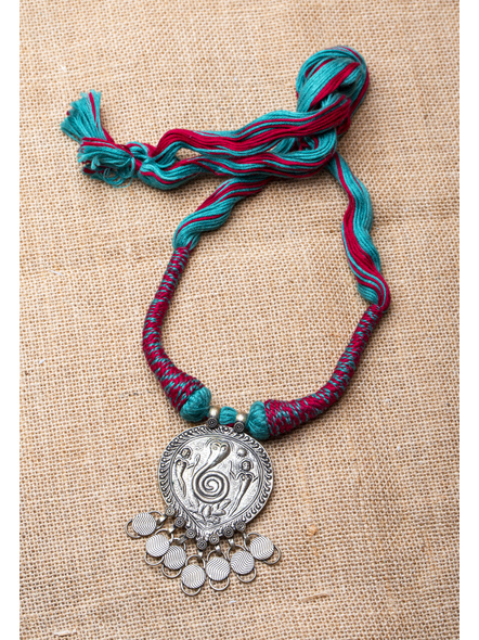 Handcrafted Tribal Pendant with Cotton Back Dori-LAA-NL-021