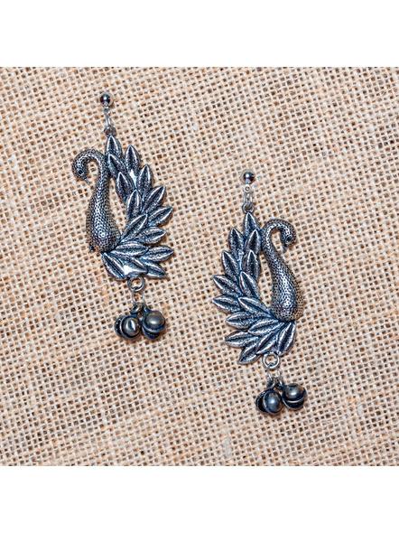 Stylish Swan Stud with Ghungoor Earrings-LAA-ER-022