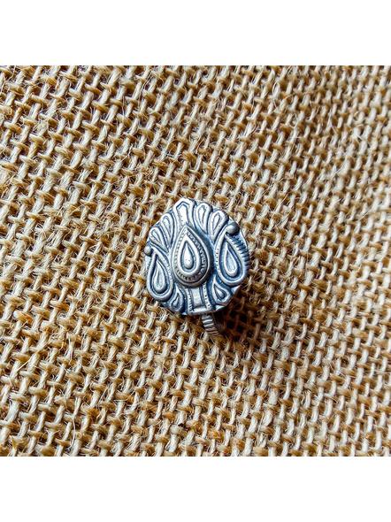 92.5 Pure Silver Kalka Design Clip-on Nosepin-LAA-NP-003