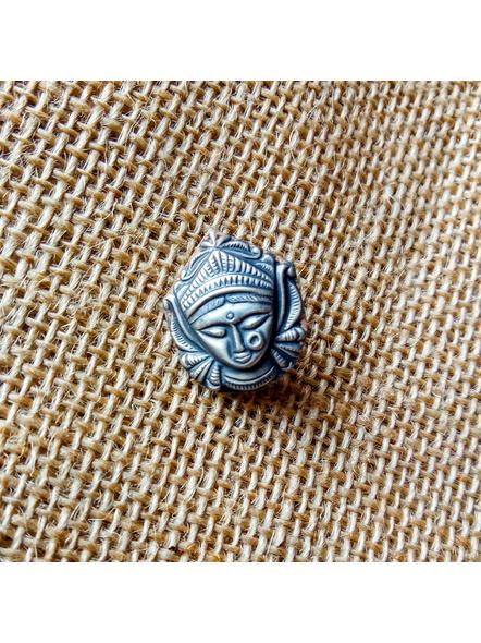 92.5 Pure Silver Durga Clip-on Nosepin-LAA-NP-005