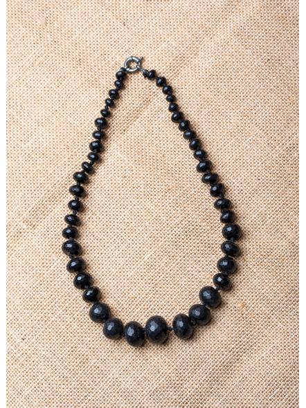 Semi Precious Onyx Graduation Necklace-1