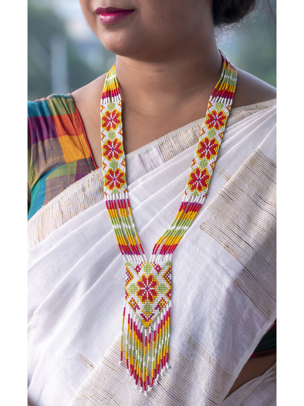 Multi-colour Seed Bead Necklace-1