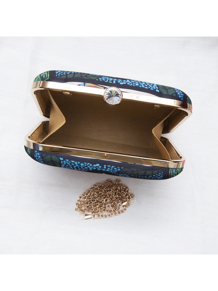 Handcrafted American Crepe Square Frida Kahlo Clutch-2
