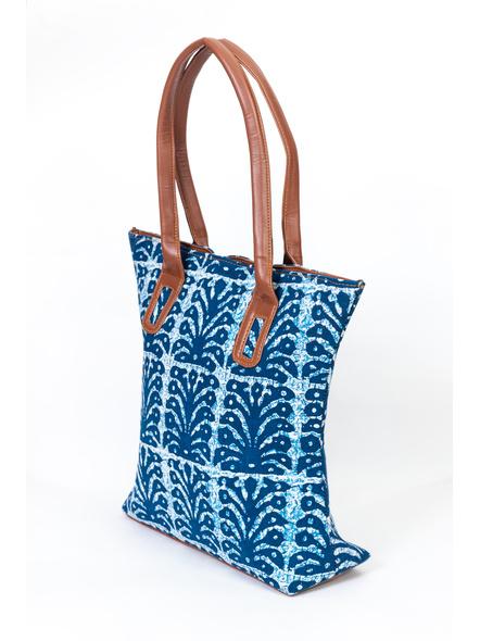 Designer Indigo Cotton Handbag-LAA-HandB-001