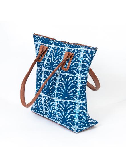 Designer Indigo Cotton Handbag-1