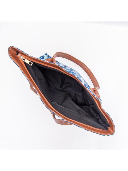 Designer Indigo Cotton Handbag-2