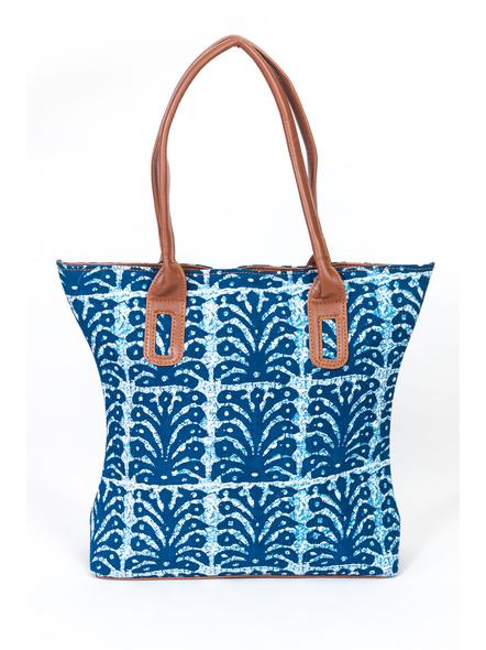 Designer Indigo Cotton Handbag-3