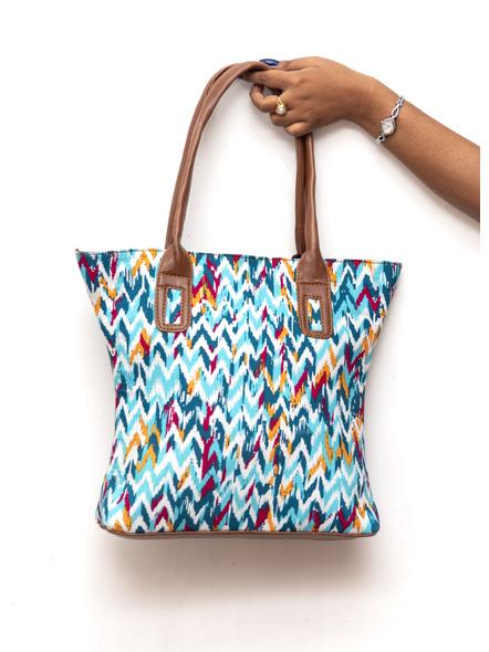 Shades of Blue Wavey Handbag-LAA-HandB-002