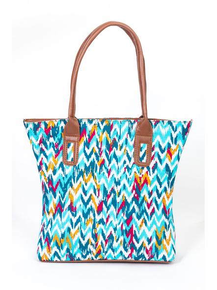 Shades of Blue Wavey Handbag-1