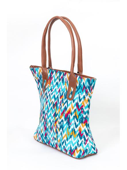 Shades of Blue Wavey Handbag-2