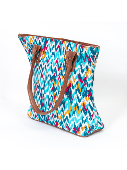 Shades of Blue Wavey Handbag-3