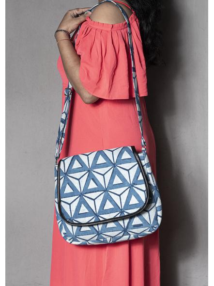 Triangular Indigo Sling Bag-1