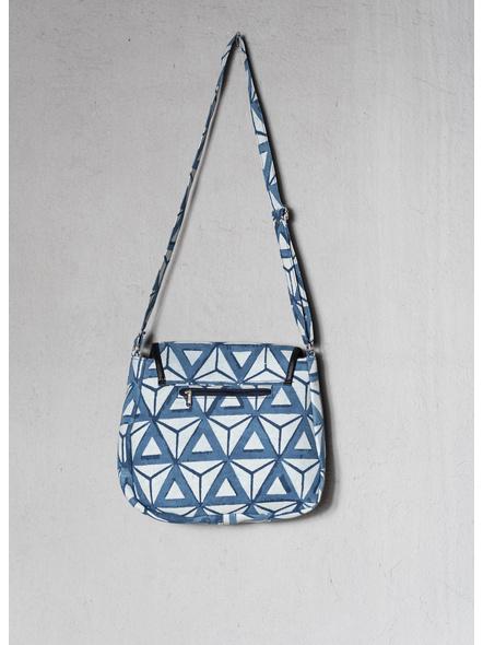 Triangular Indigo Sling Bag-2