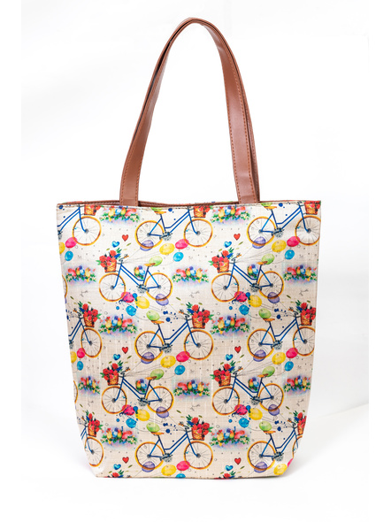 Tussar Silk Cycle Tote Bag-2