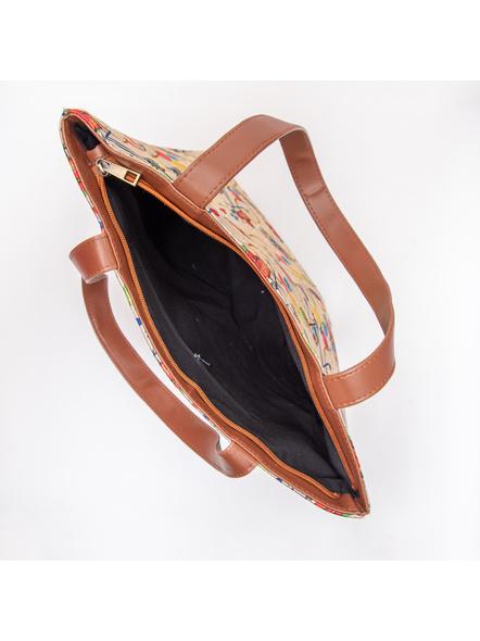 Tussar Silk Cycle Tote Bag-4