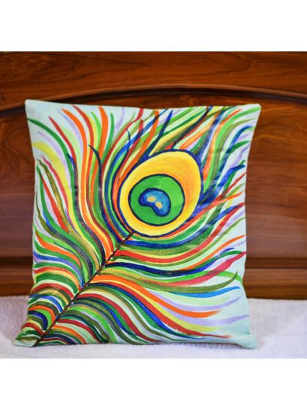 Hand Painted Cotton Cushion Cover (16inch X 16inch)-LAA-HD-CC-002