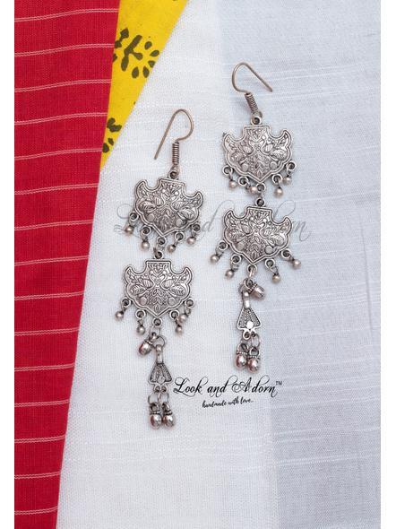 Designer German Silver Earring-LAA-ER-093
