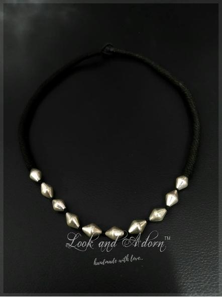 92.5 Pure Silver Dholki Neckpiece-LAA-NL-037