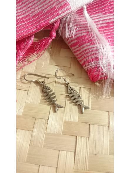 92.5 Pure Silver Fish  Earring-LAA-ER-113