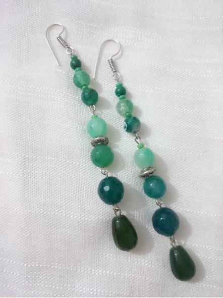 Shades of Green Semi Precious-LAA-ER-INSTA005