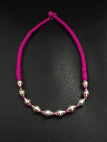 92.5 Pure Silver Dholki Neckpiece-LAA-NL-037P