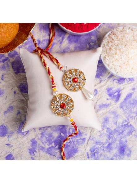 Handmade Designer Bhai Bhabi Rakhi Set-LAA-RK-24