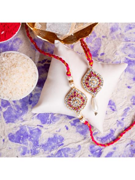 Handmade Designer Bhai Bhabi Rakhi Set-1