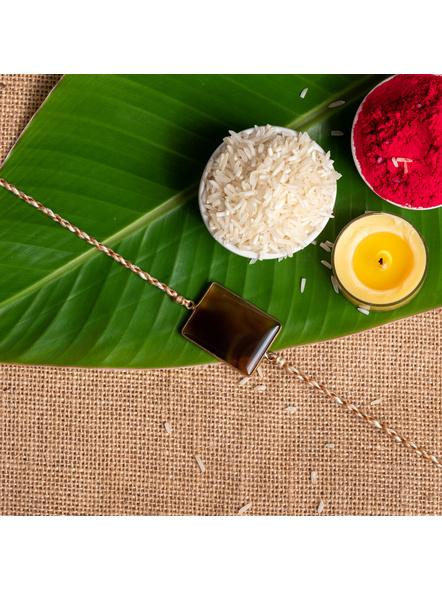 Handmade Semi-Precious Agate Stone Rakhi-LAA-RK-36