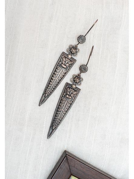 92.5 Pure Silver Designer Long Triangular Dangler Earring-LAA-ER-115