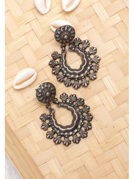 92.5 Pure Silver Stud Chandbali  Earring-LAA-ER-116