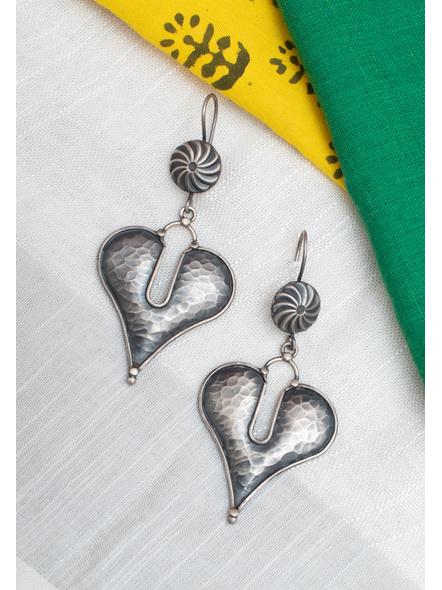 92.5 Pure Silver Designer Heart Earring-LAA-ER-118
