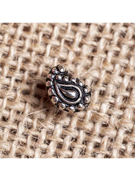 92.5 Pure Silver Designer Paisley Wire Nosepin-1