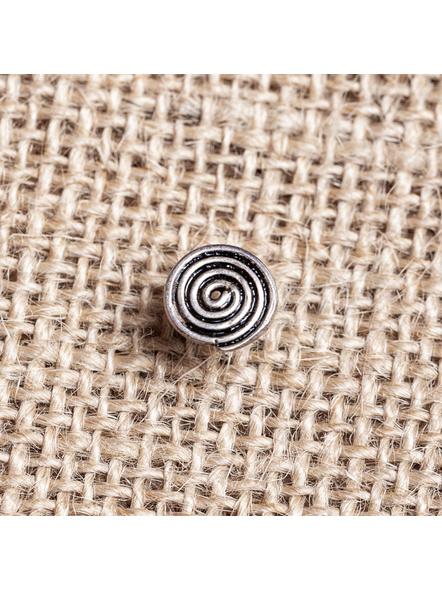 92.5 Pure Silver Designer Round Spiral Wire Nosepin-LAA-NP-011