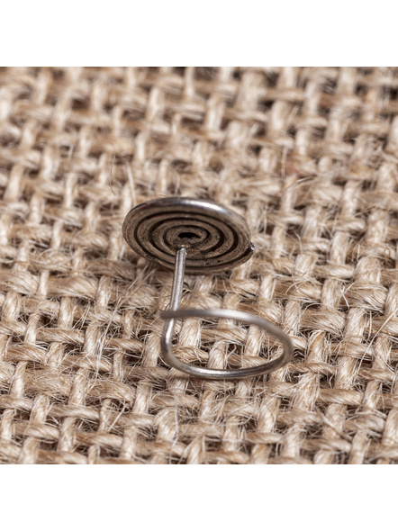 92.5 Pure Silver Designer Round Spiral Wire Nosepin-1