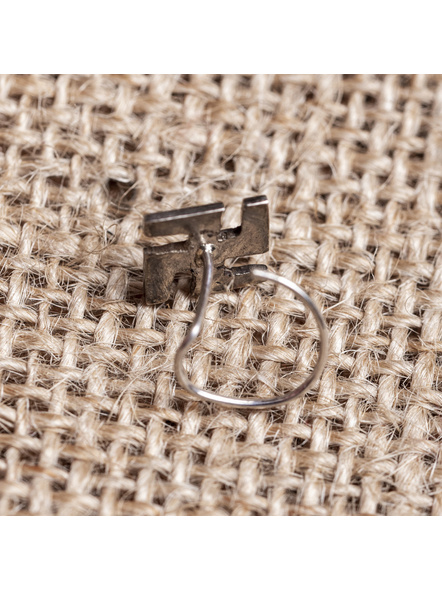 92.5 Pure Silver Designer Swastik Wire Nosepin-1